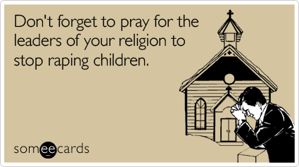Stop raping children.